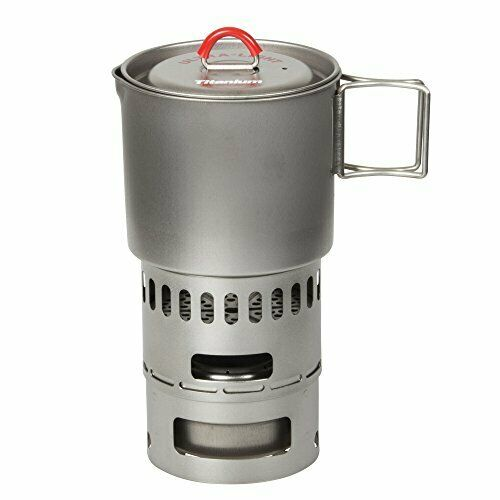 EVERNEW titanium mug pot 500 stove set RED ECA268R NEW