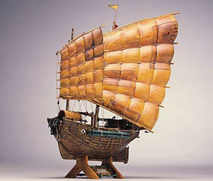 Aoshima Bunka Kyozai Chinese junk 1880 Model 1/60 World Ship Series No.2 Japan