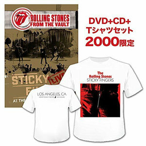 ROLLING STONES Sticky Fingers Live 2015 JAPAN DVD + CD with T Shirt SET