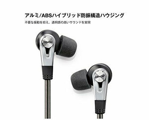 DENON canal earphone for high resolution sound source / dual driver black