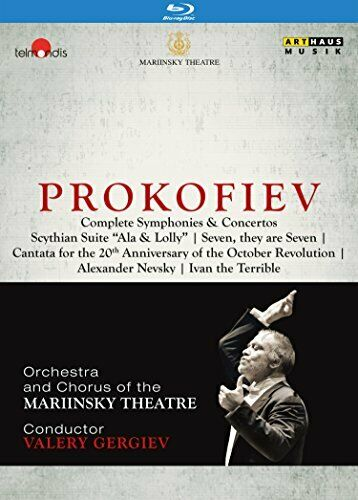 VALERY GERGIEV-PROKOFIEV COMPLETE-IMPORT 4 BLU-RAY WITH JAPAN OBI AE50 qd