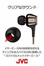Load image into Gallery viewer, JVC HA-FXT200LTD Hi-SPEED Twin System In-Ear Headphones Black & Gold NEW JAPAN