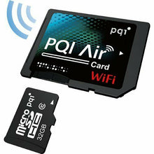 Load image into Gallery viewer, PQI Air Card Wi-Fi built-in SD card adapter microSDHC 32GB comes... Japan Import