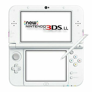 NEW new Nintendo 3DS LL Console System Pink White w/ amiibo NFC JAPAN F/S not XL