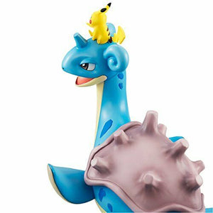 NEW MegaHouse G.E.M. Series Pokemon Ash PikachuLaprasPre-paintedFigureFrom Japan