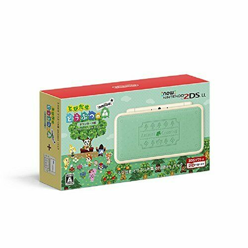 Nintendo 2DS LL Animal Crossing Leaf Japanese ver. Amiibo + Pack Console JP