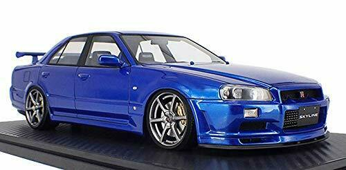 Ignition Model 1/18 Nissan Skyline 25GT Turbo (ER 34) Blue Metallic 2