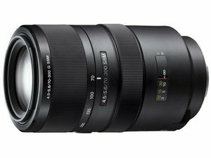 Sony telephoto zoom lens 70-300mm F4.5-5.6 G SSM full size compatible