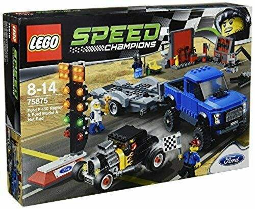 Lego Speed Champion Ford F 150 Raptor & amp Ford Model A Hot Rod 75875