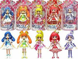 Bandai Doki Doki! Precure Glitter Force  : Glitter Cure 5 Doll Figure set