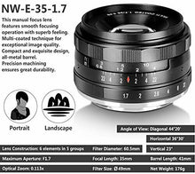 Load image into Gallery viewer, Neewer 35mm f/1.7 Manual Focus Prime Fixed Lens for SONY E-Mount New E