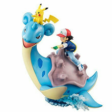 Load image into Gallery viewer, NEW MegaHouse G.E.M. Series Pokemon Ash PikachuLaprasPre-paintedFigureFrom Japan