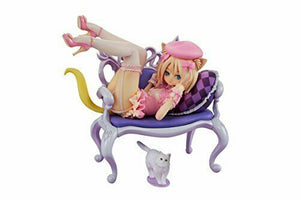 Planet of the Cats Fluffy Cat & Chair Figure New from Japan