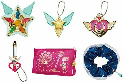 BANDAI Sailor Moon Capsule goods Deluxe set of 6 complete Gashapon Anime F/S