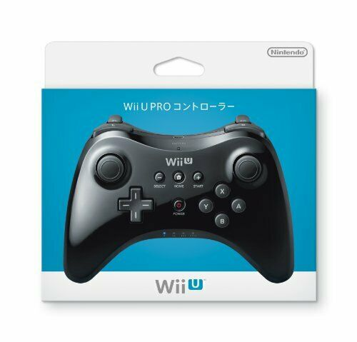 New Nintendo Official Authentic Wii U PRO Wireless Controller Pad Black JAPAN FS