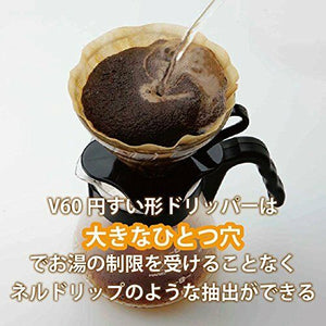 NEW HARIO V60 Heat resistant glass transparent coffee dripper 03Black VDG-03B#Si