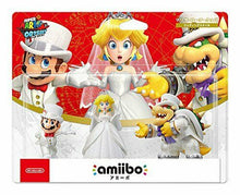 Load image into Gallery viewer, amiibo Triple Wedding Set Mario Peach Kupa Super Mario Series Japan Ver. w/trac#