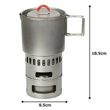 Load image into Gallery viewer, EVERNEW titanium mug pot 500 stove set RED ECA268R NEW
