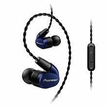 Load image into Gallery viewer, PIONEER Hi-Res Canal type Earphone SE-CH5T-L Navy Blue New in Box