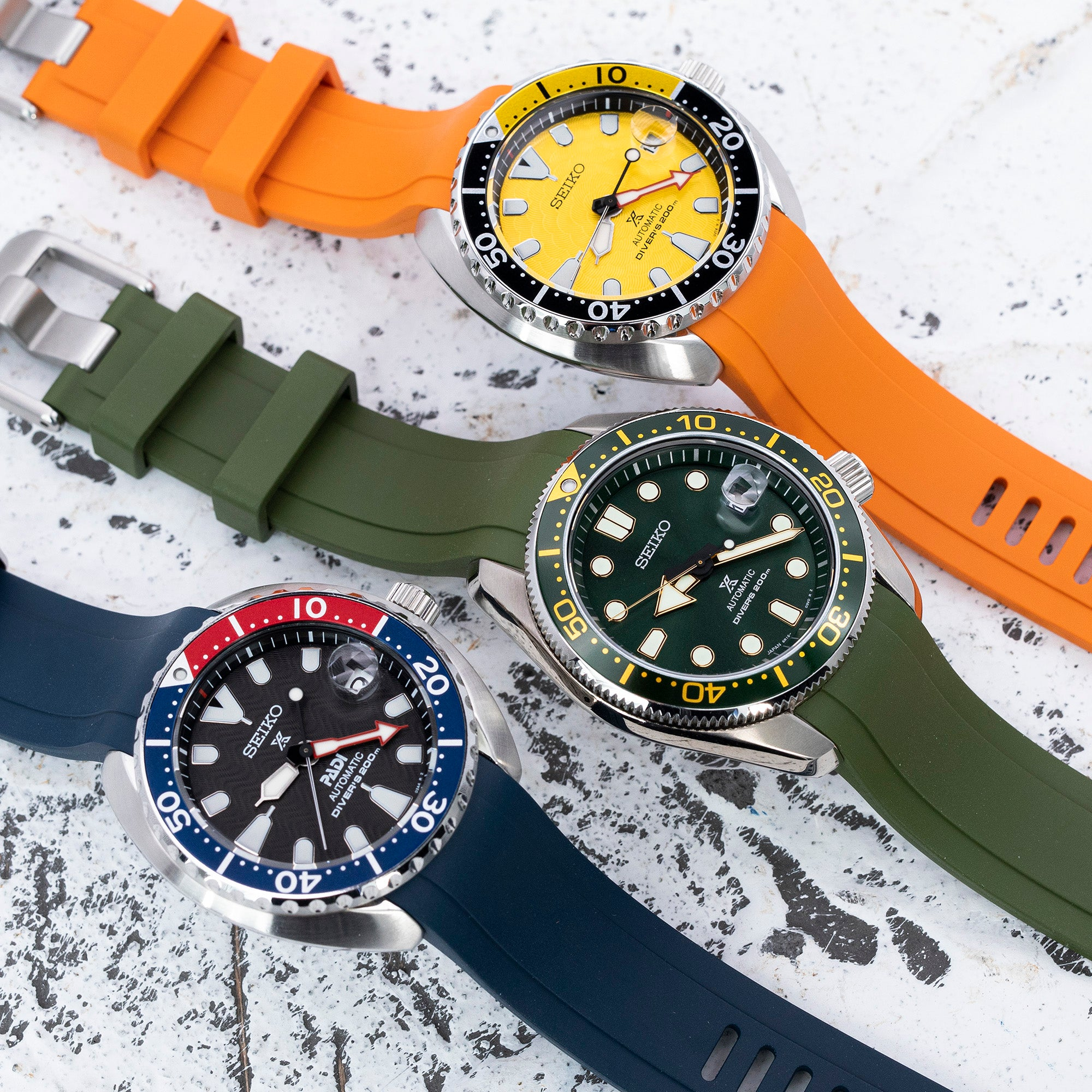 Crafter Blue's LATEST fitted straps for MM200 & Mini Turtles