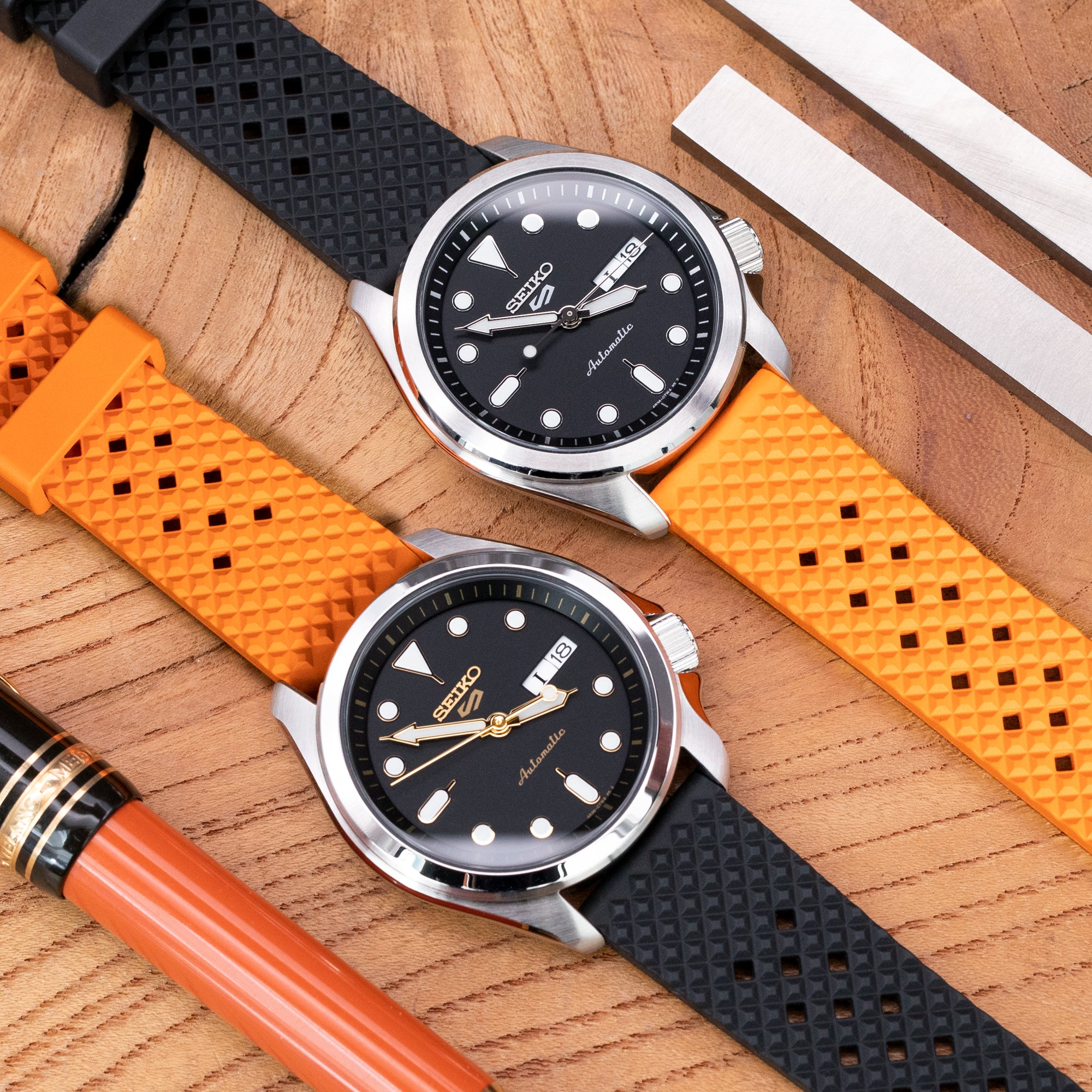 New FKM 'Rhombus' Rubber Watch Strap with Quick Release