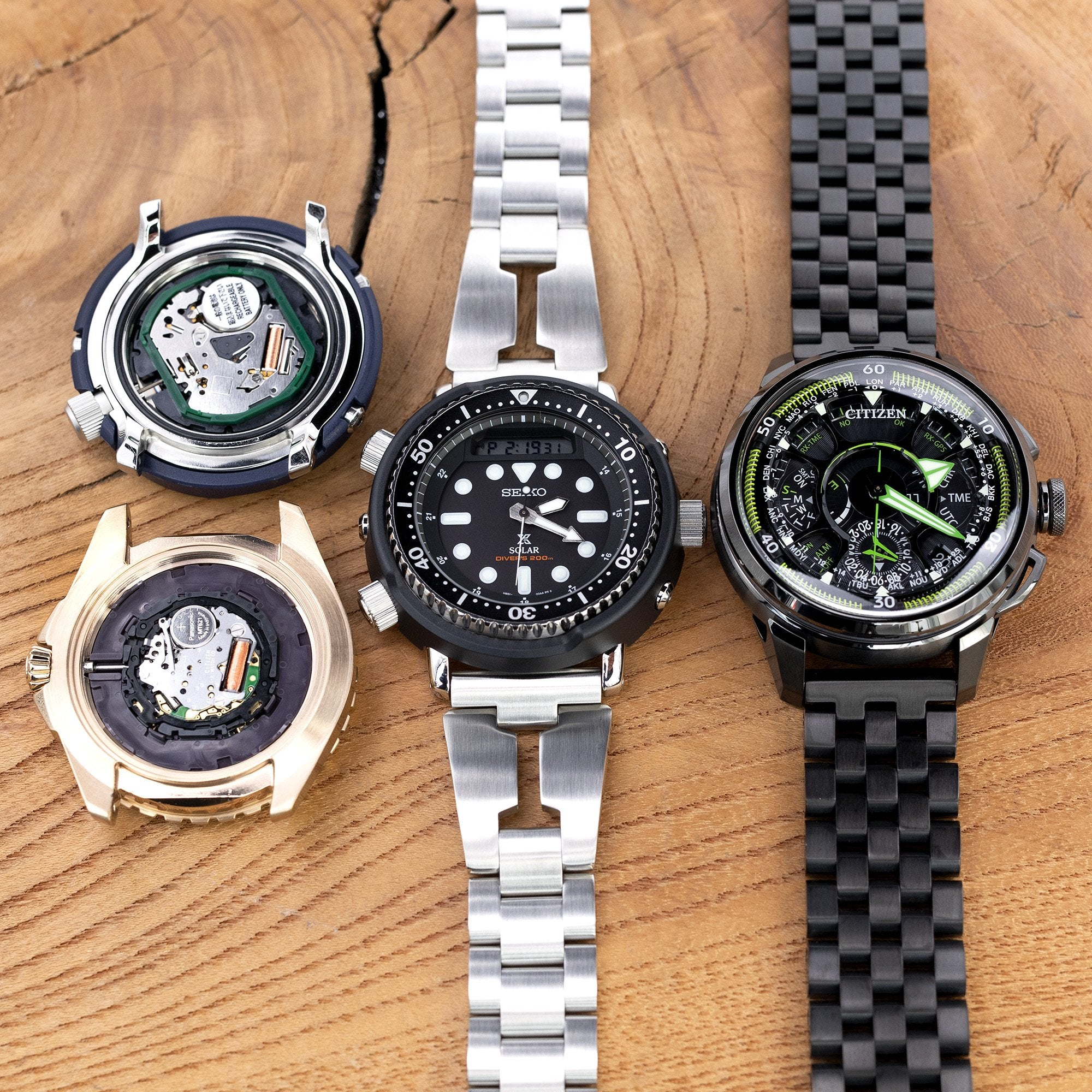 The battle of Titans: Citizen Eco-Drive vs. Seiko Solar Movement