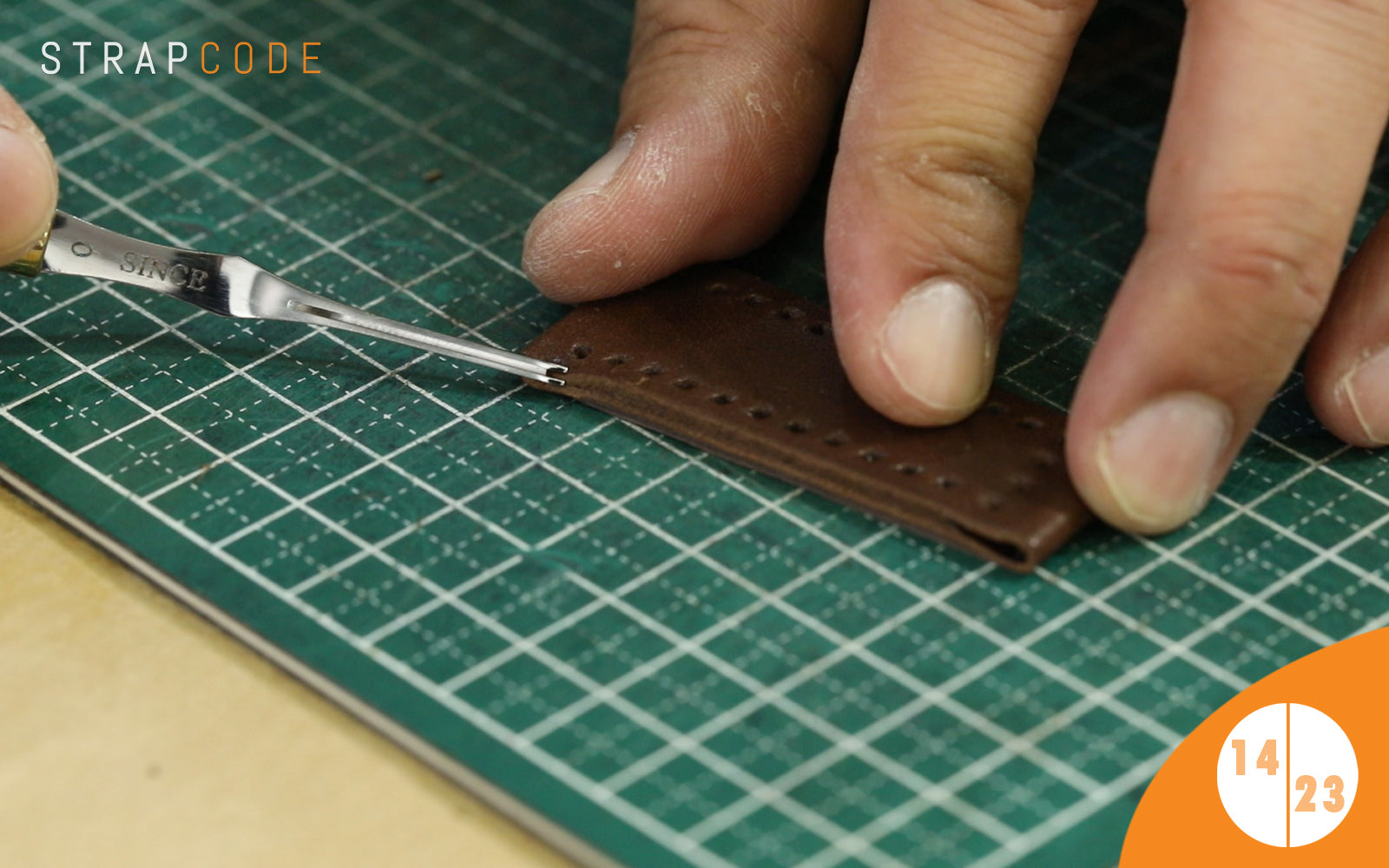 step 14 - handmade leather watch band by strapcode watch bands