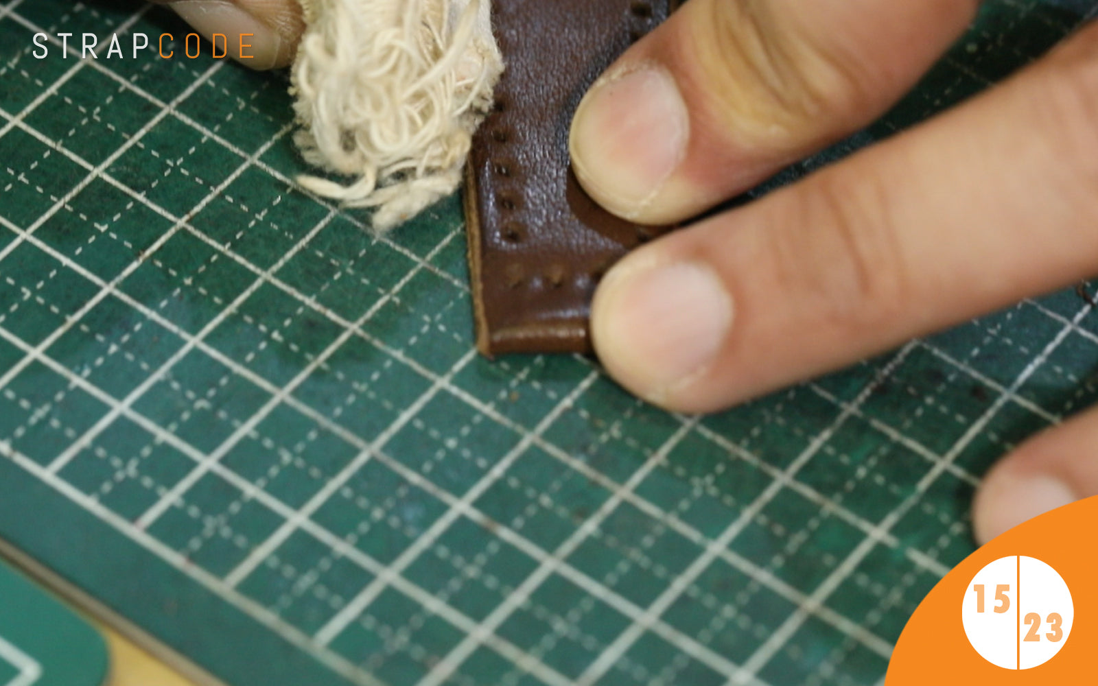 step 15- handmade leather watch band by strapcode watch bands