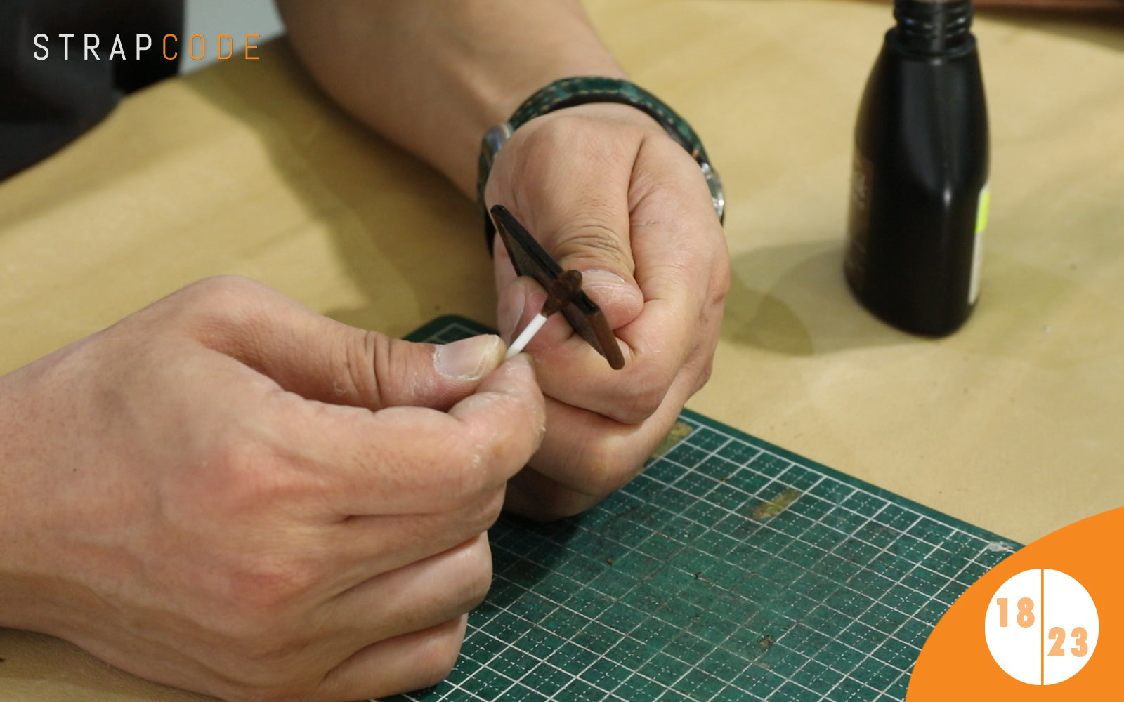 step 18 - handmade leather watch band by strapcode watch bands