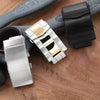 Watchband diver clasps & buckles Polish brushed 2 tone, PVD Black