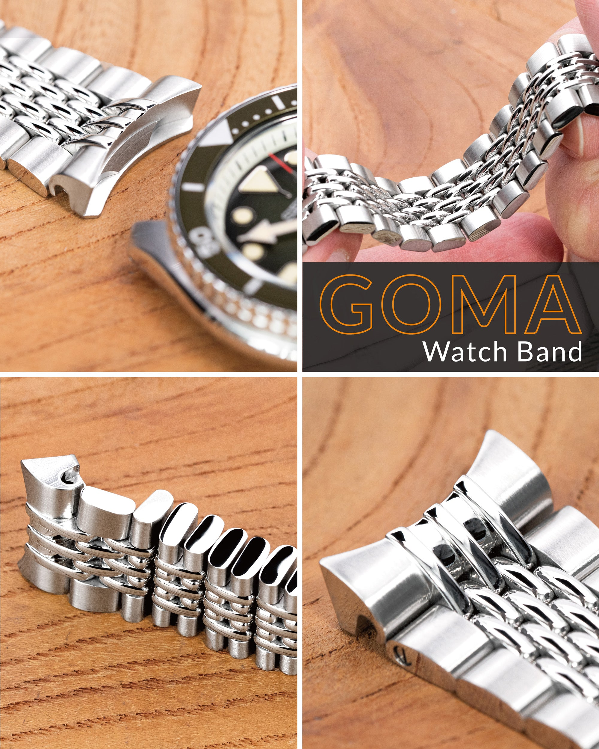 Beads of Rice Bracelet, Goma BOR by Strapcode watch bands