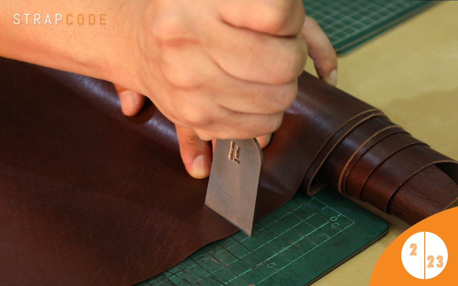 step 2- handmade leather watch band by strapcode watch bands