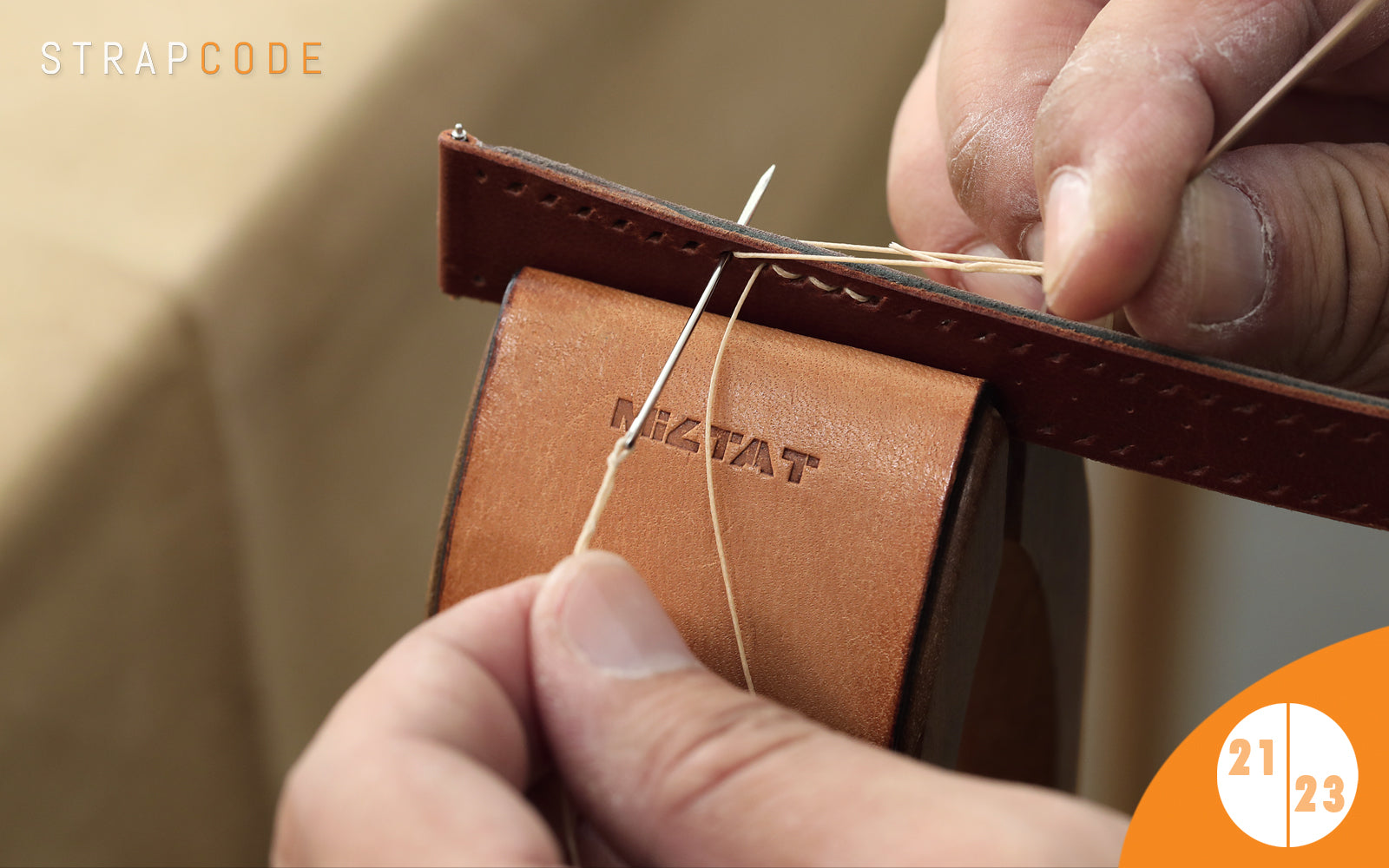 step 21 - handmade leather watch band by strapcode watch bands