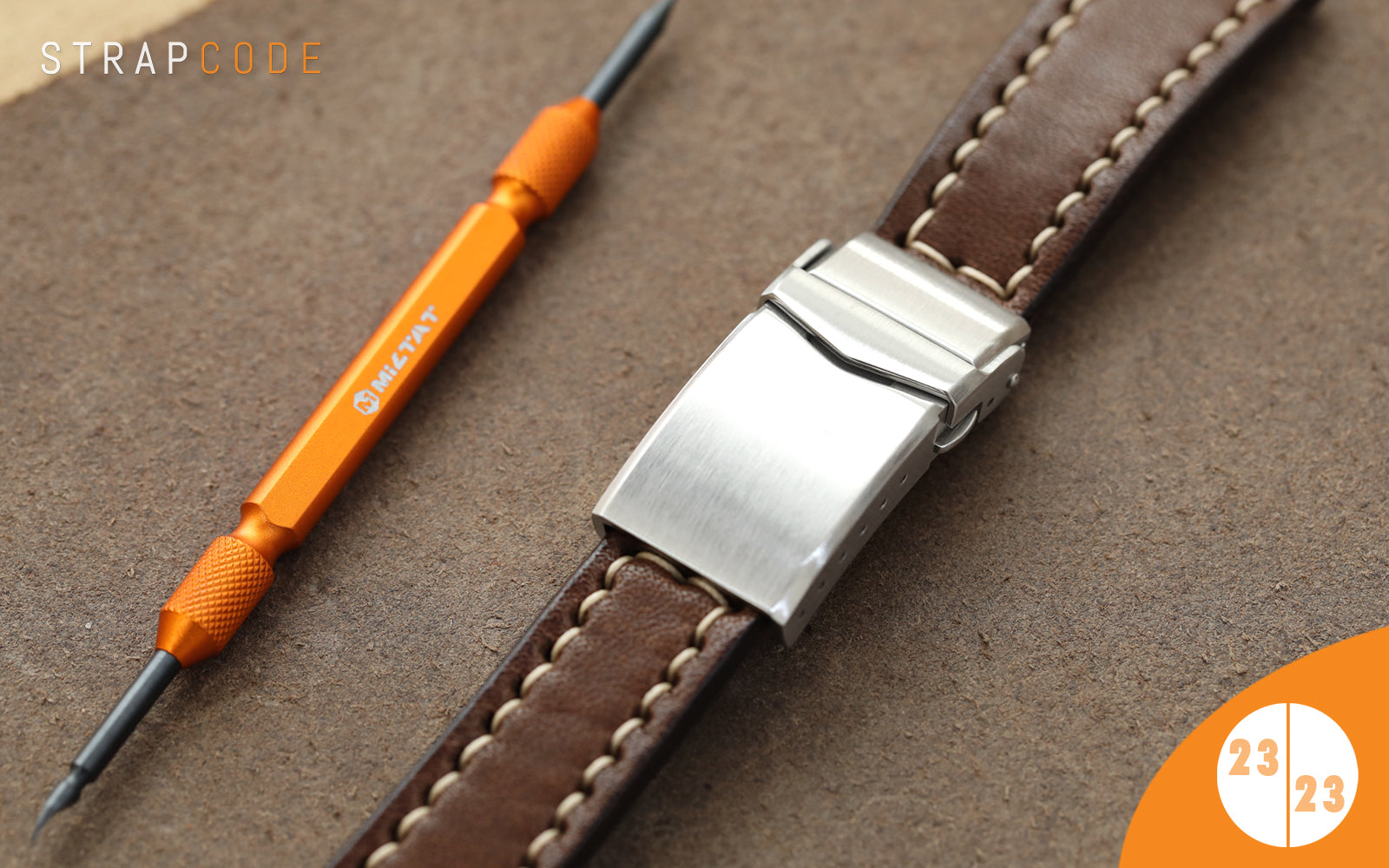 step 23 - handmade leather watch band by strapcode watch bands