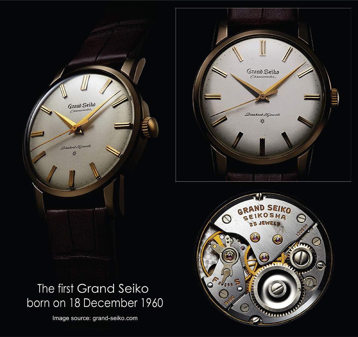 The first Grand Seiko born on 18 December 1960