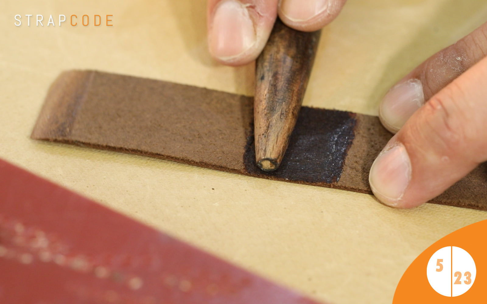 step 5- handmade leather watch band by strapcode watch bands