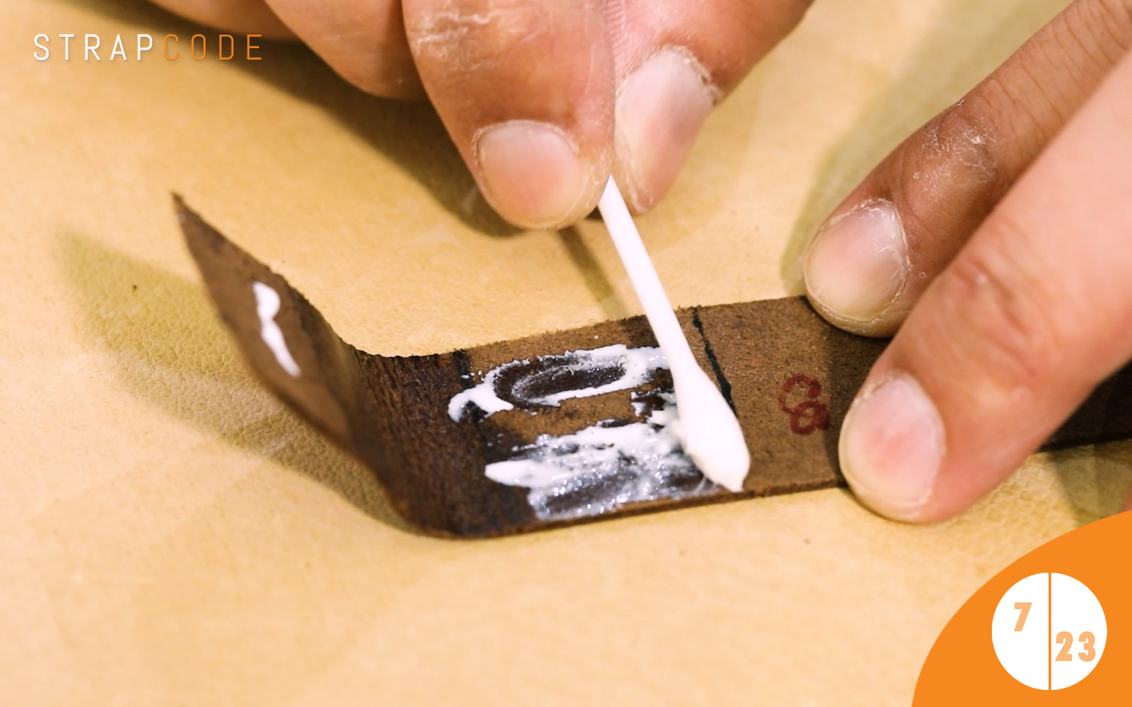 step 7- handmade leather watch band by strapcode watch bands