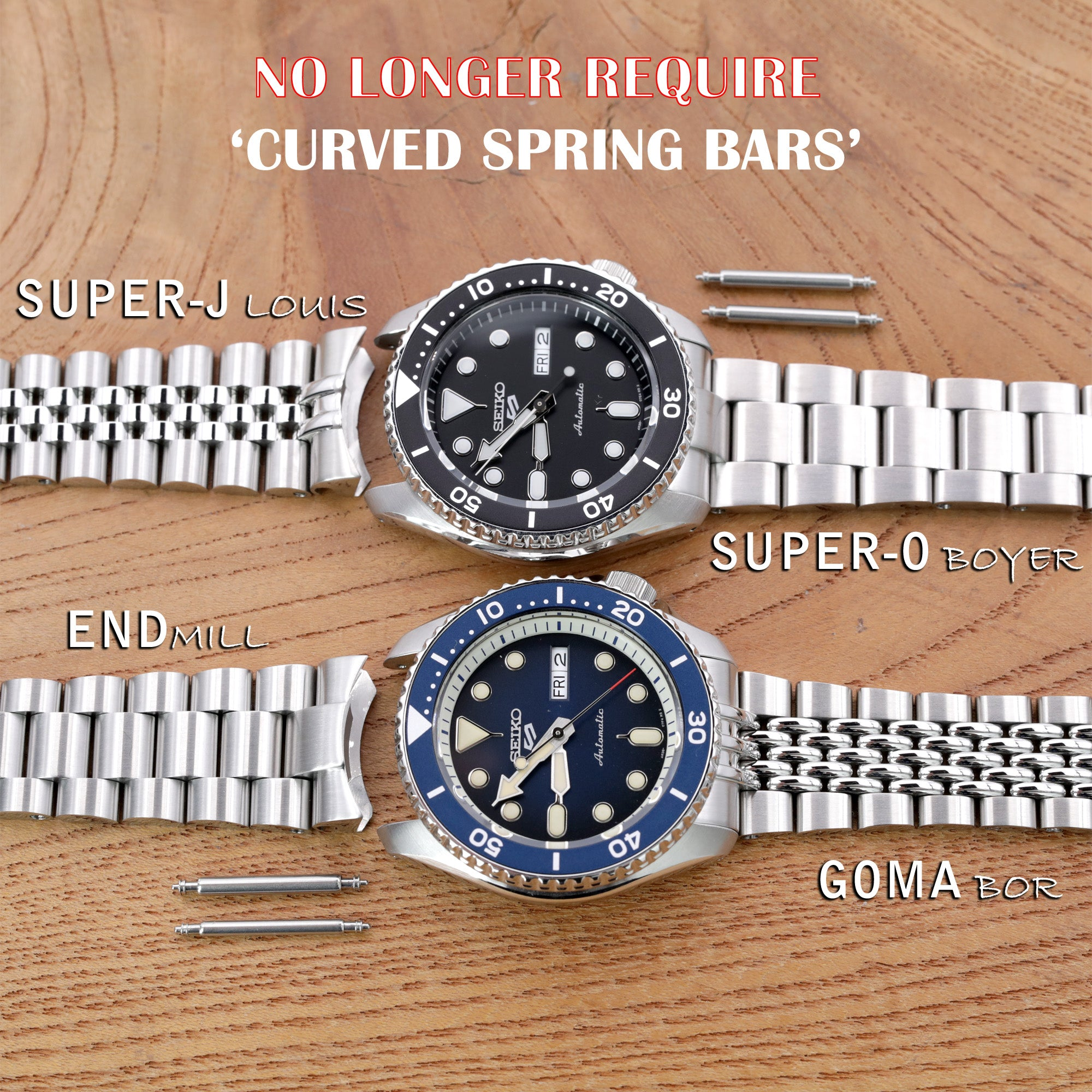 Seiko watch bands for Seiko 5 sports by Strapcode