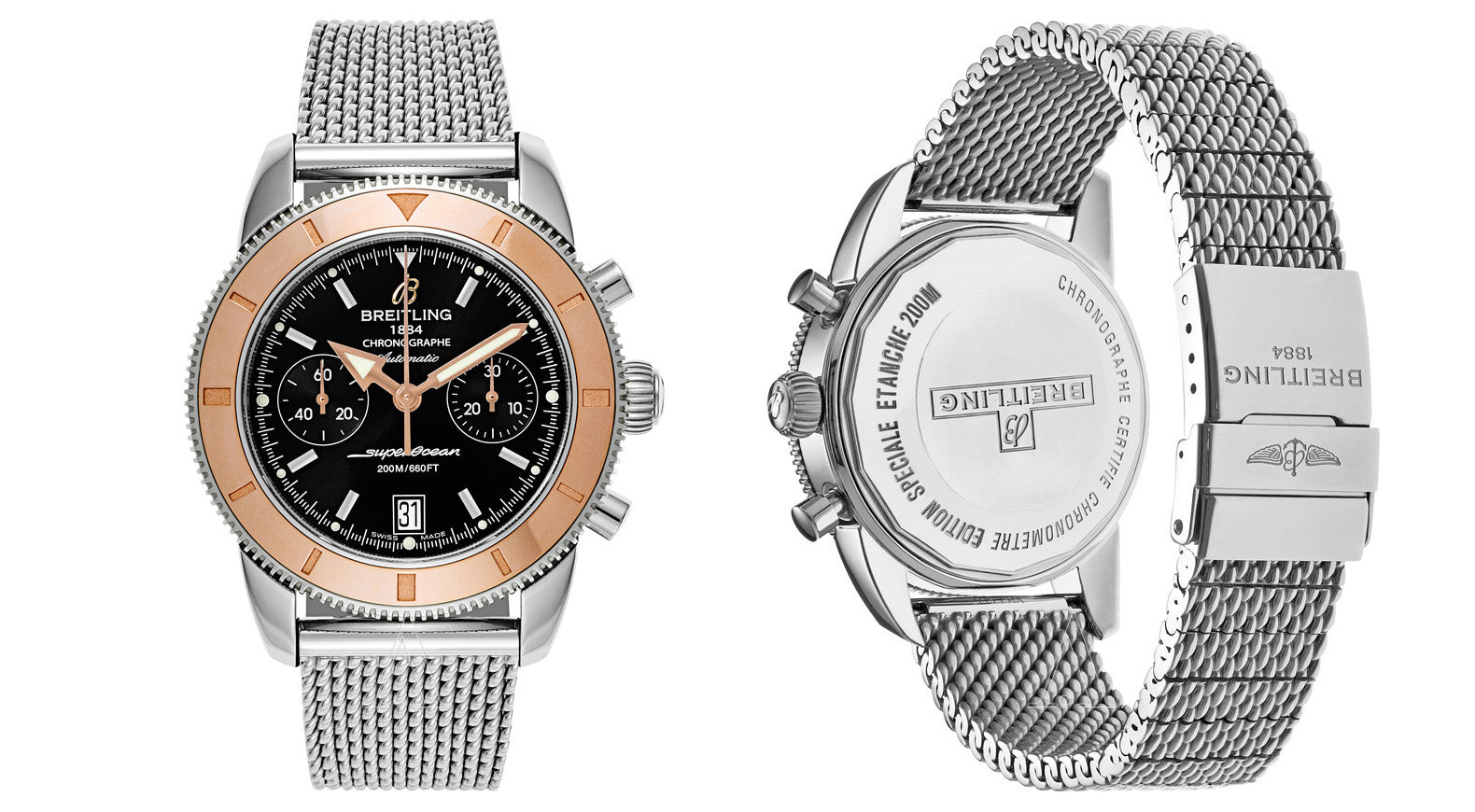 e2df5cb0910 The best proof was the bracelet that came with Breitling s SuperOcean  Heritage series of watches and continues to follow modern editions such as  Breitling ...