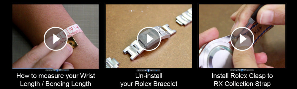 Strapcode RX Collection - Rolex replacement leather watch band video