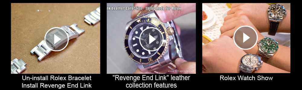 Strapcode Revenge End Link Leather Collection - Tailor made for Rolex, replacement leather watch strap videos