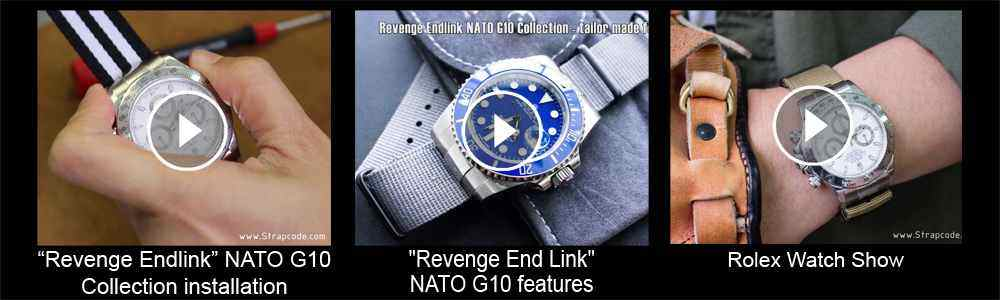 Strapcode Revenge End Link NATO G10 Collection - Tailor made for Rolex, replacement leather watch strap videos