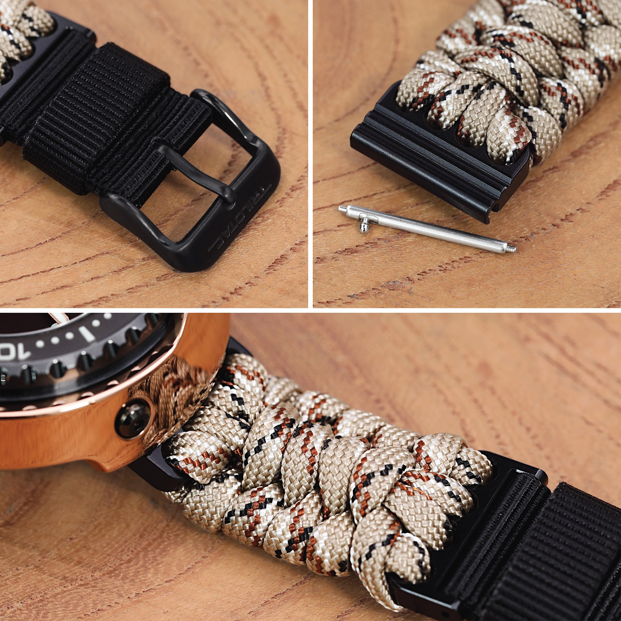 Trilotac Paracord watch bands by Strapcode