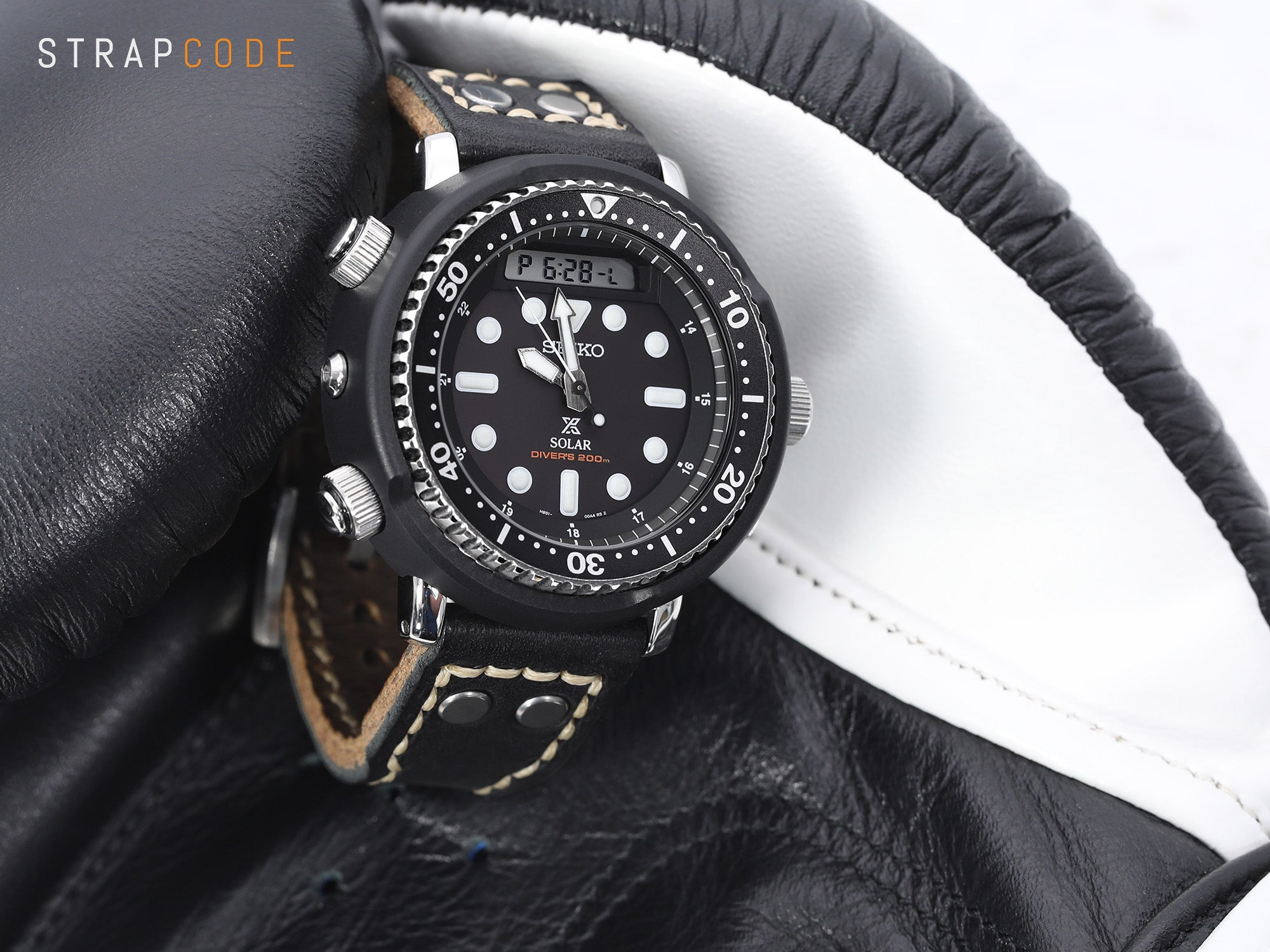 Pull Up Aniline Italian Rivet Leather Watch Strap, by strapcode watch bands
