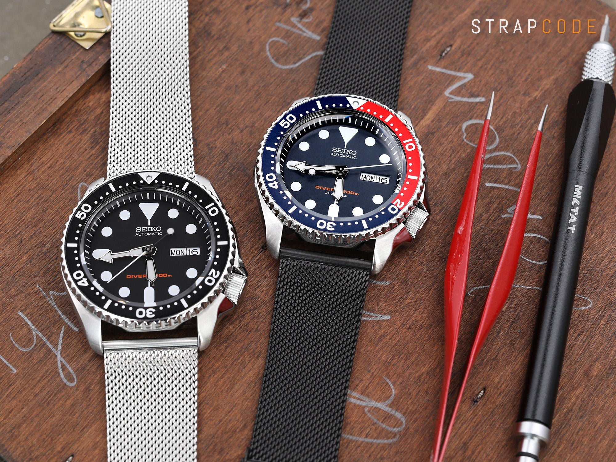 Seiko SKX007 & SKX009, 22mm Superfine Mesh Watchband