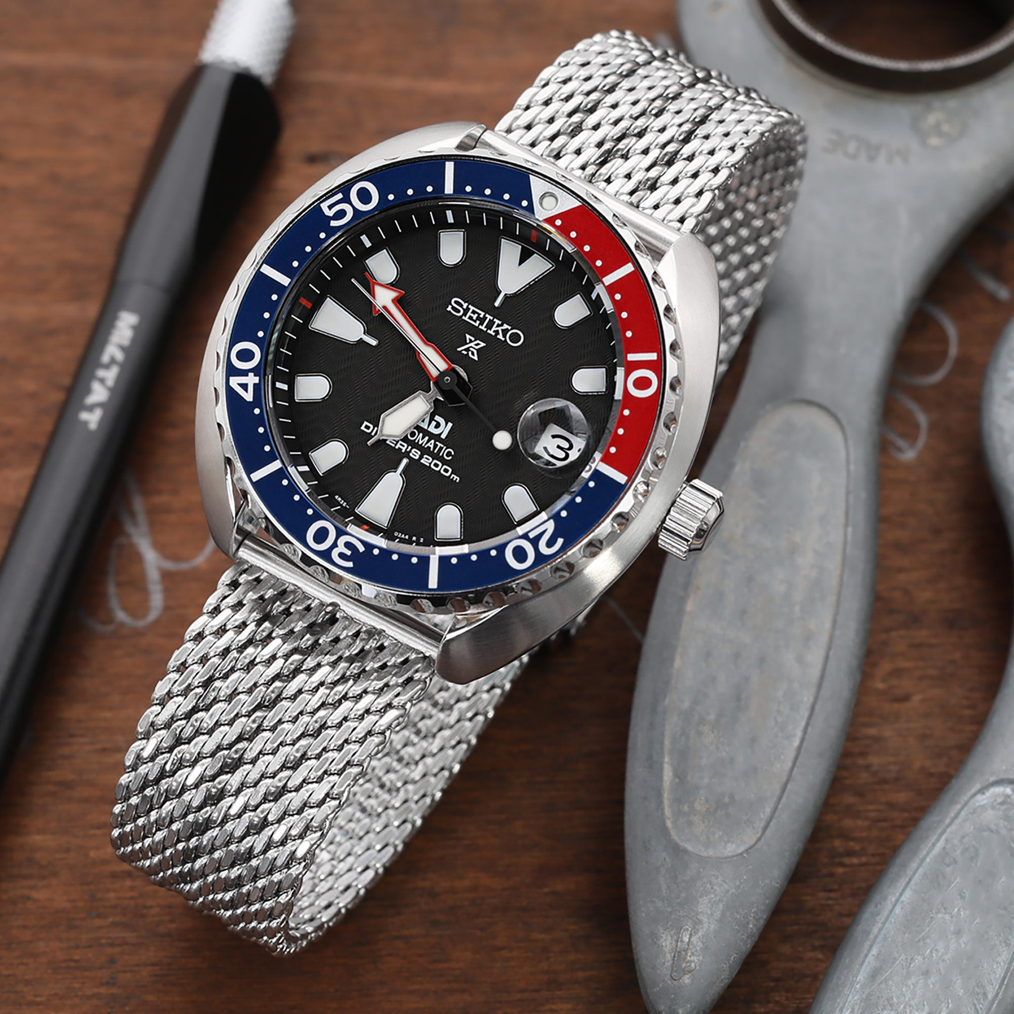 Seiko Mini-Turtle Prospex Automatic Dive Watch SPRC41K1 (PADI Edition)
