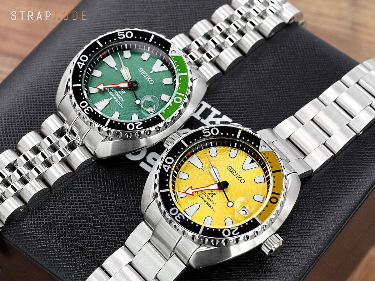 Seiko Zimbe Mini Turtles Green Dial SRPD17 &  Yellow Dial SRPD19 Limited Edition