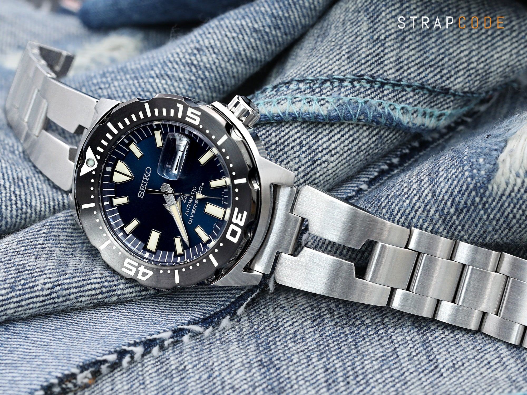 Seiko Prospex Monster SRPD25 Blue Dial Dive Watch