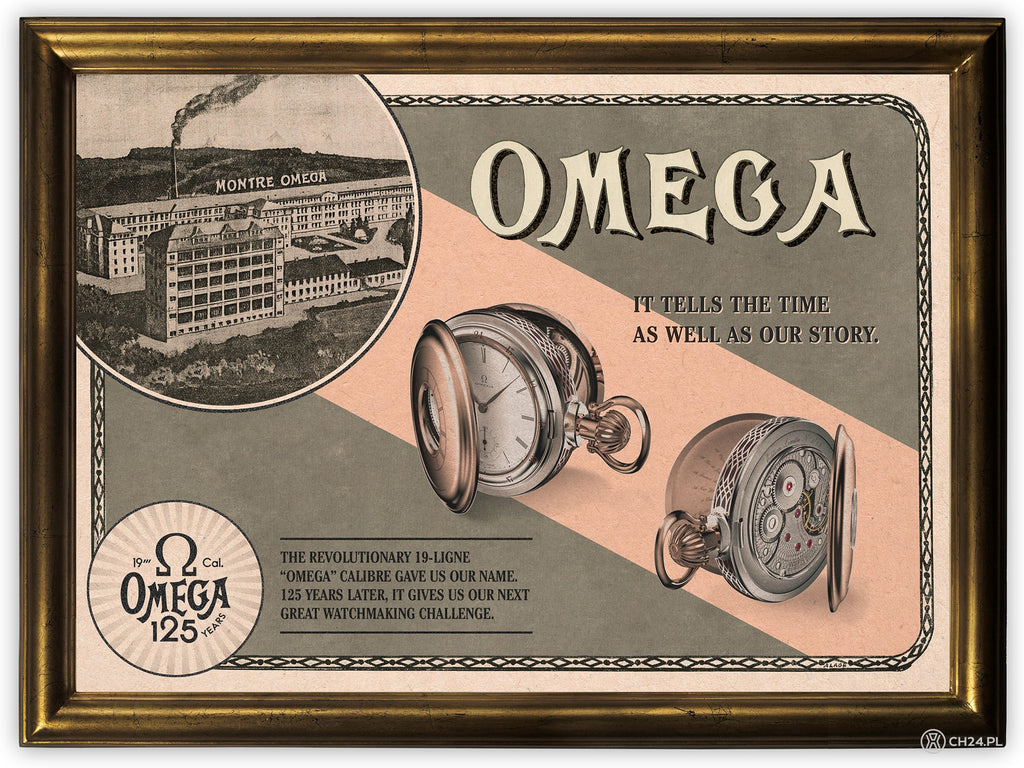 Omega's pocket watch featuring its first caliber: the 19-ligne