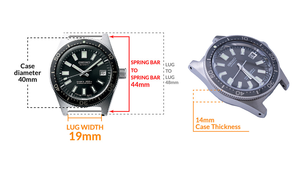 Seiko Prospex Diver SLA017 - Details watch case measurement and dimensions